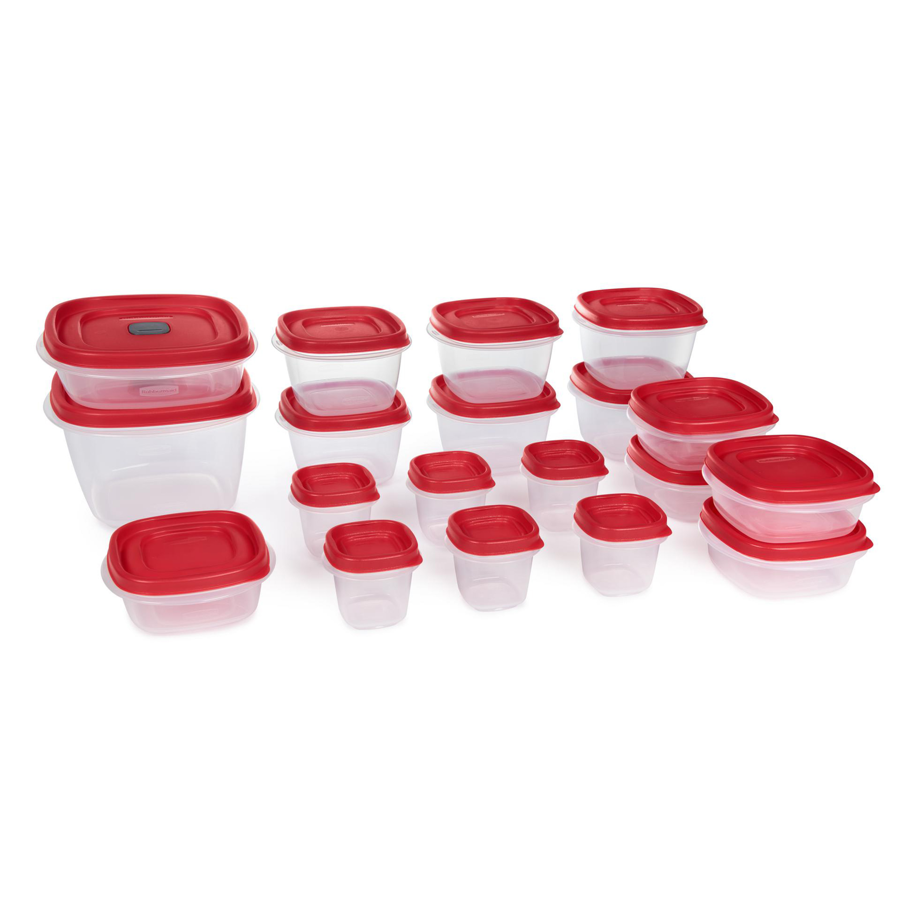 Rubbermaid Easy Find Vented Lids Food Storage Containers 38-Piece Set NEW Red