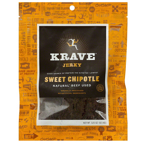 Krave Sweet Chipotle Jerky, 3.25 oz, (Pack of 8)