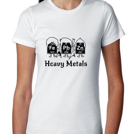 Heavy Metals Periodic Table Science Geek Graphic Womens Cotton T