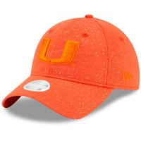 Miami Hurricanes New Era Women's Sparkle 9TWENTY Adjustable Hat - Orange - OSFA