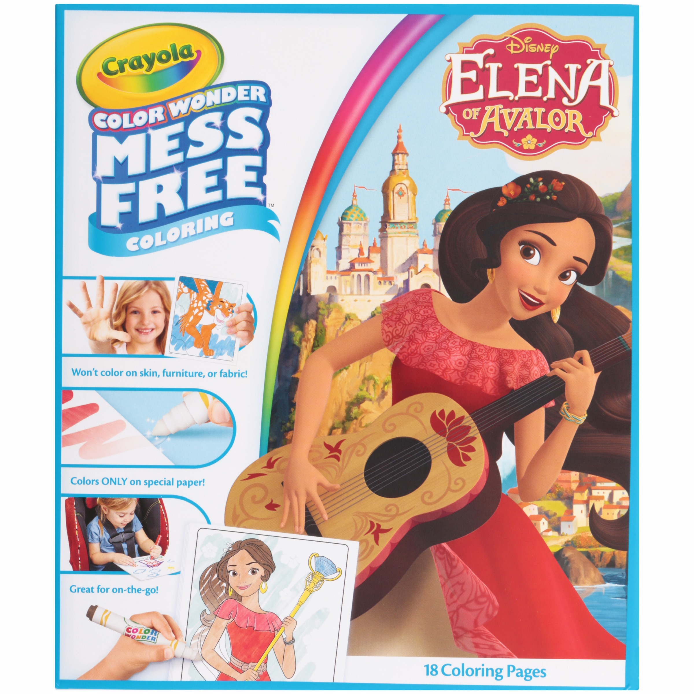 Crayola Disney Elena of Avalor Coloring Pages, 18 Mess Free Color Wonder Pages by Generic