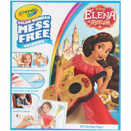 Crayola Color Wonder Disney's Elena Coloring Set, Ages 3+ - Halloween Coloring Pages Disney Printable