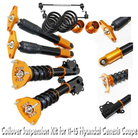 Coupe Sport Spring Kits (Coilover Suspension Kit GOLD for 11-15 Hyundai Genesis Coupe)