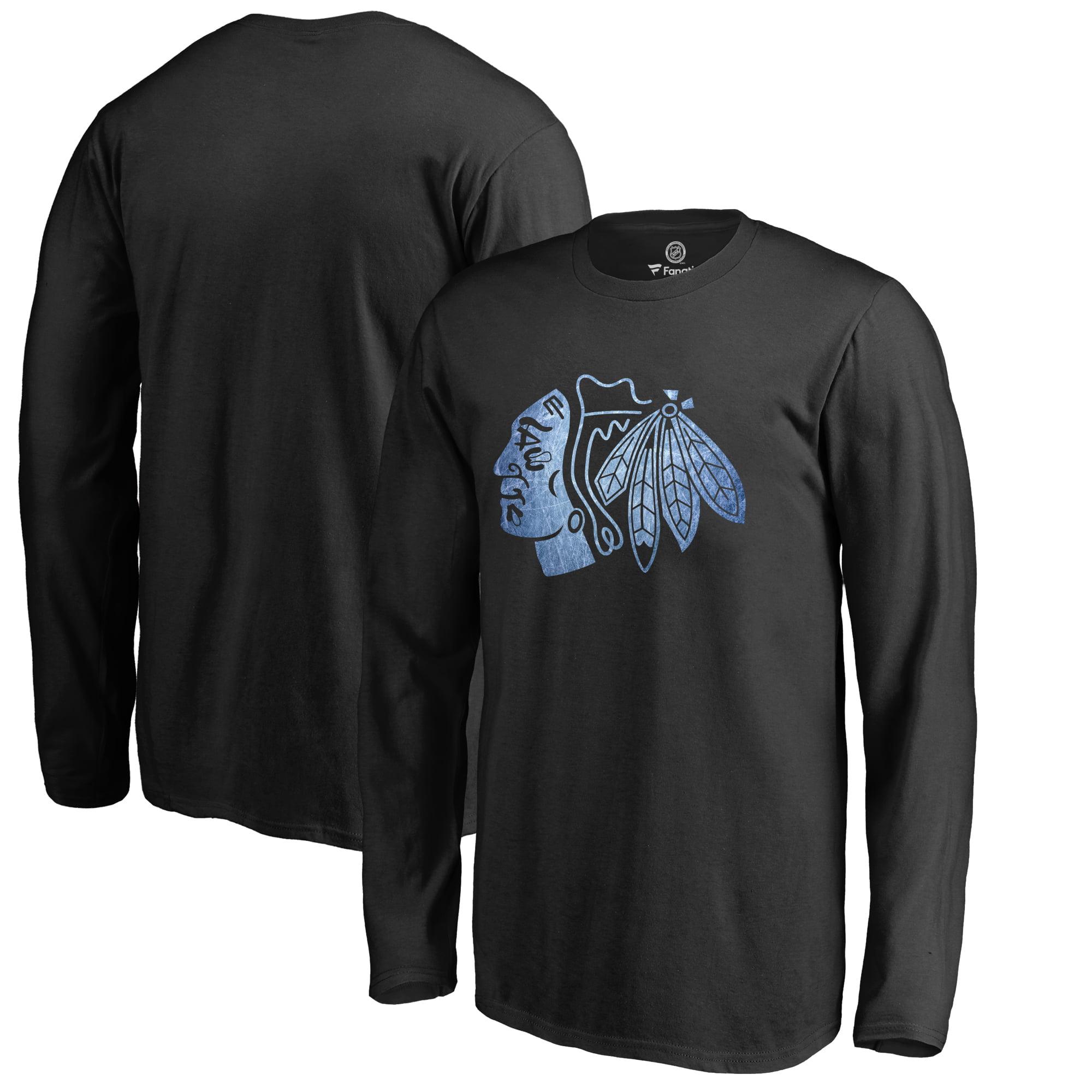 Chicago Blackhawks Youth Pond Hockey Long Sleeve T-Shirt Black by Football Fanatics/Ruppshirts