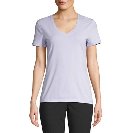 Petite Essential V-Neck Tee (Tanned Tee)