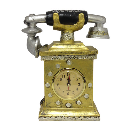 Classic Telephone Shape Clock by Generic