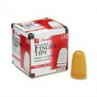 Swingline Rubber Finger Tips, Size 11 1/2, Medium, Amber