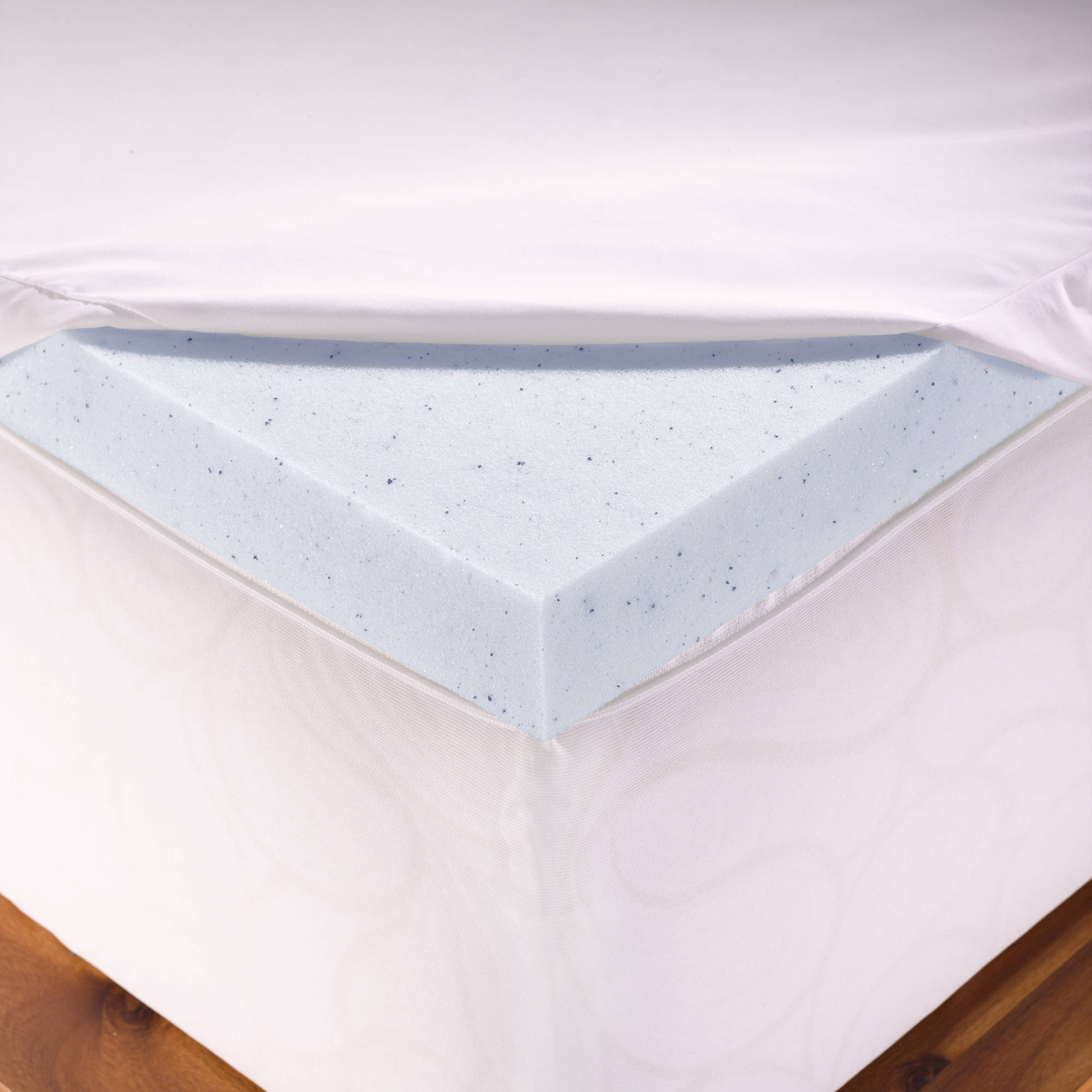 memory foam milliard ventilated egg topper queen product crate pad mattress inch
