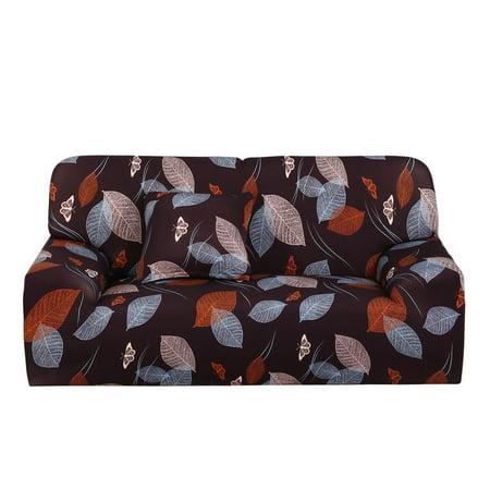 Home 1 2 3 4 Seats Stretch Cover Sofa Loveseat Slipcovers Dark