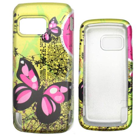 Soul Wireless NK5230SC0113 Nokia 5230 Nuron Yellow Butterfly Snap On Protective Case Cover