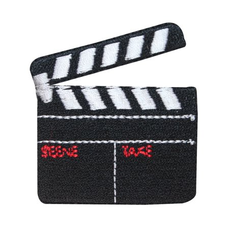 ID 3090 Movie Slate Board Clapper Patch Film Prop Embroidered Iron On Applique (Movie Props)