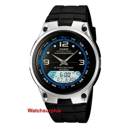 Casio AW82-1A Men's Analog Digital Chronograph Alarm Fishing Gear Sports Watch