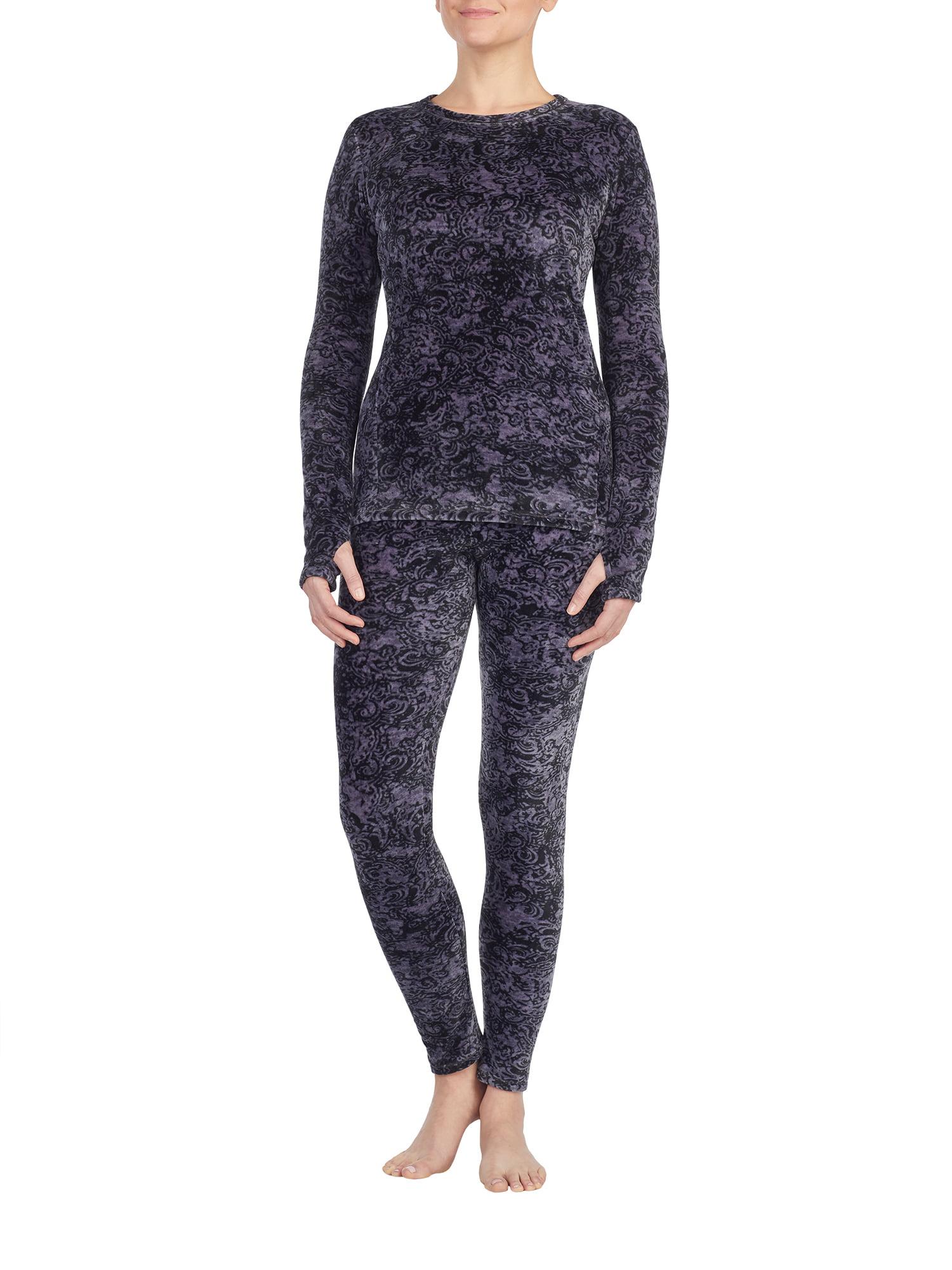 2992aecce912c4 ClimateRight by Cuddl Duds - Women's Strech Luxe Velour Warm Underwear  Legging - Walmart.com