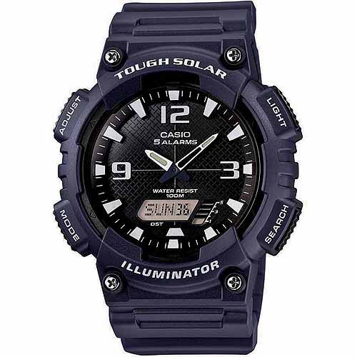 Casio Men's Solar Sport Combination Watch, Blue Resin Strap