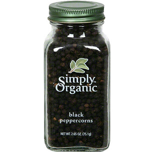Simply Organic Black Peppercorn, 2.65 oz (Pack of 6)