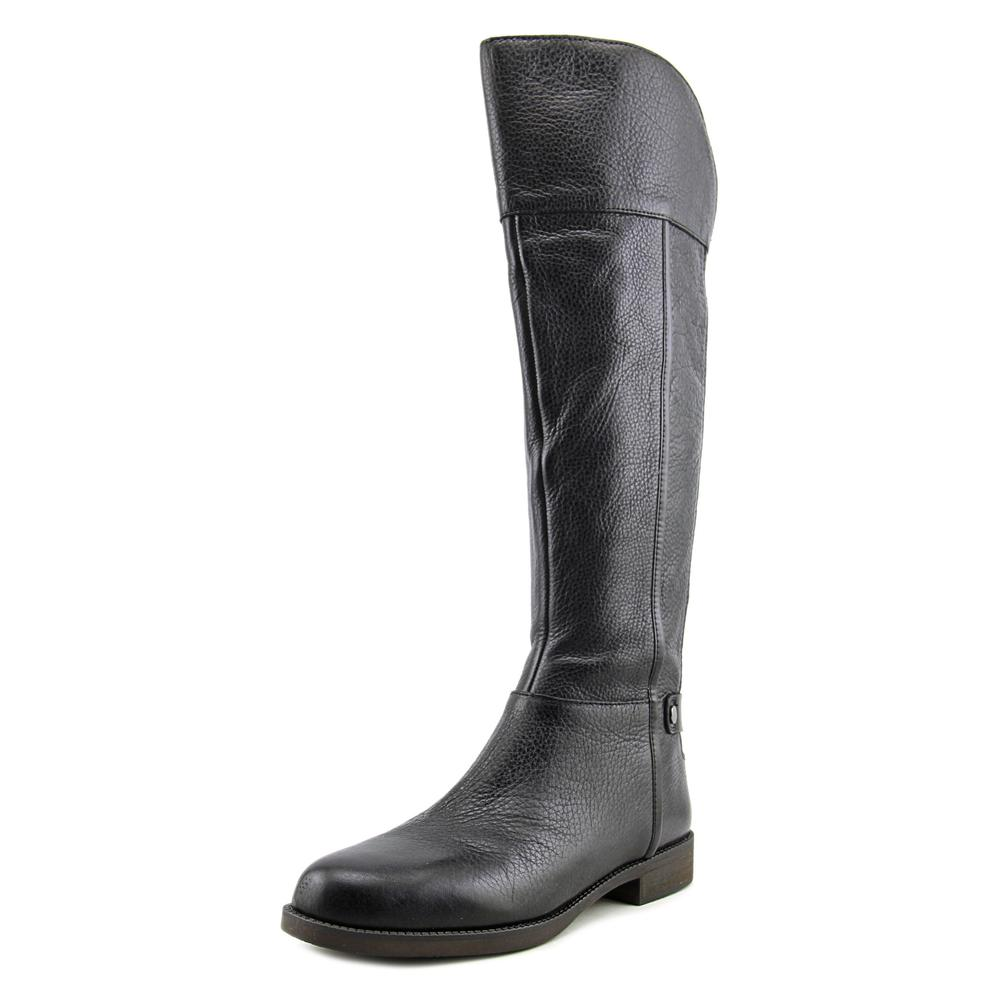 Franco Sarto Christine Women Round Toe Leather Black Knee High Boot by Franco Sarto