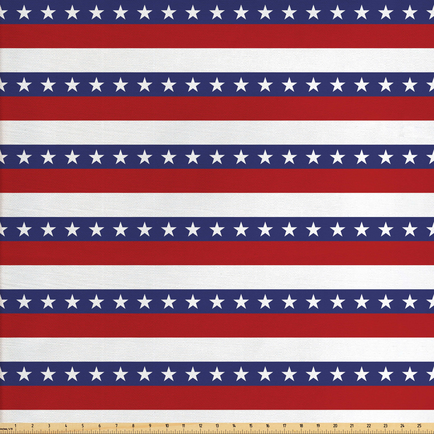 July 4th Fabric Wavy Stripes Red Blue /& Metallic Silver Stars Independence USA