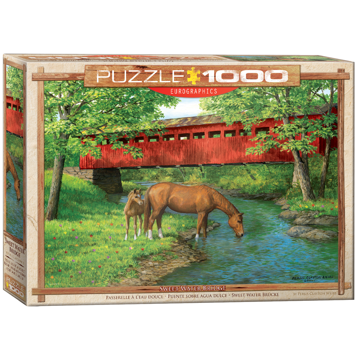 Persis Clayton Weirs Sweet Water Bridge 1000 pc by EuroGraphics