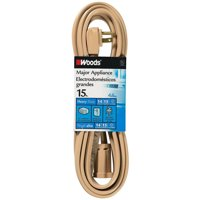 Woods 0047 Air Conditioner Appliance Cord, 15-Foot, Beige