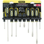 Stanley Tools 10-Piece Standard Fluted Screwdriver Set, Phillips/Slotted