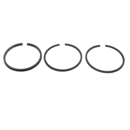 Universal 63mm Inner Dia Black Metal Piston Ring Set for Motorcycle Scooter ()