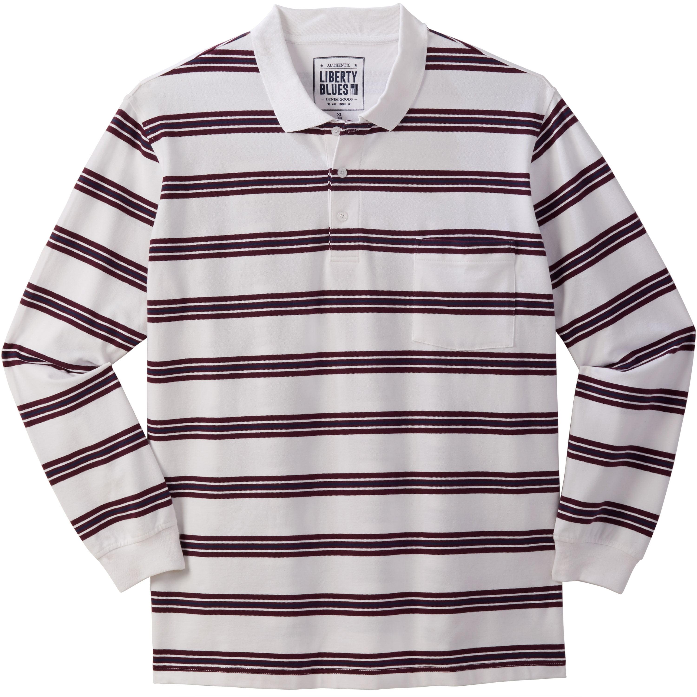 Liberty Blues Men's Big & Tall Liberty Blues® Long-Sleeve Polo Shirt