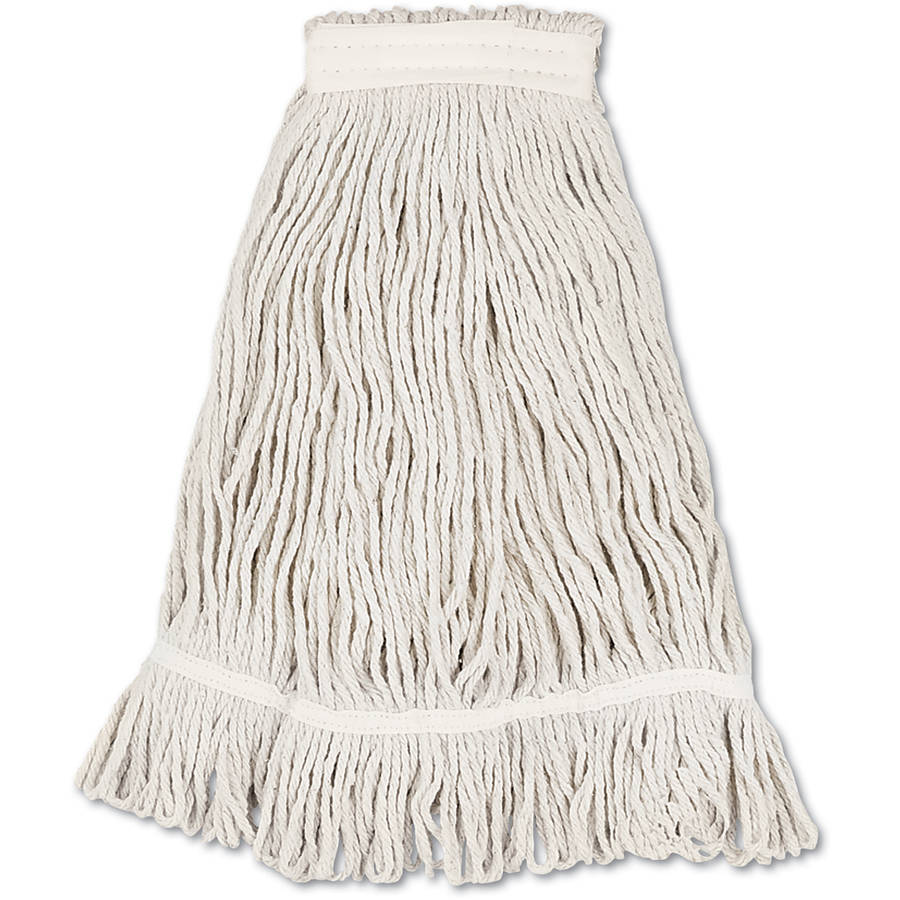 Boardwalk Loop Web Tailband Value Standard Cotton White Mop Head, 12 count by UNISAN