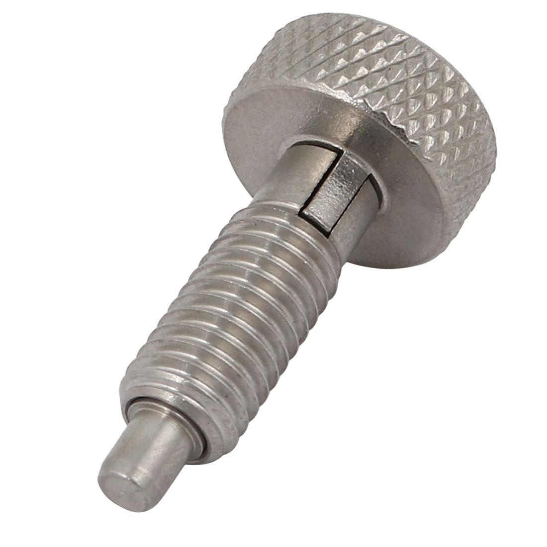 M8 Fil 4mm Dia axe blocage acier carbone indexation type platur bouton moleté - image 2 de 2