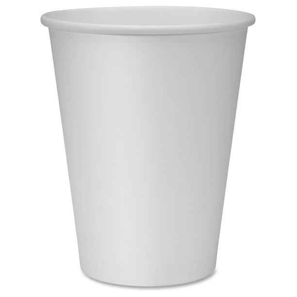 Genuine Joe Polyurethane-lined Disposable Hot Cups, 12 Oz, White, 50 Ct