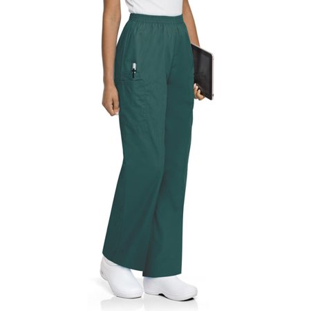 ScrubZone by Landau Women's Elastic Waist Cargo Scrub Pant, Style 83221 (Landau Womens Elastic Pant)