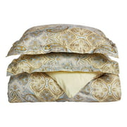Superior Light Weight and Super Soft Brushed Microfiber, Wrinkle Resistant Printed Paisley Duvet Cover Set