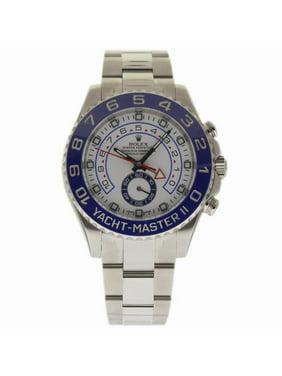 Pre-Owned Rolex Yacht-master Ii 116680 Steel  Watch (Certified Authentic & Warranty)