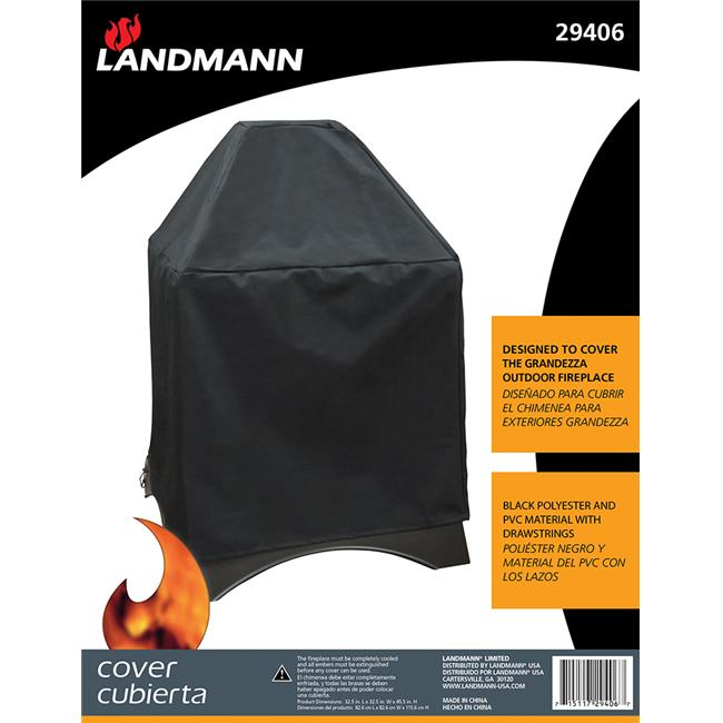 Landmann USA 29406 Grandezza Fireplace Cover Black Polyester With Pvc Lining