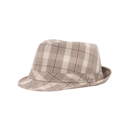 Plaid Design Fedora Hat, (Walmart Fedora)