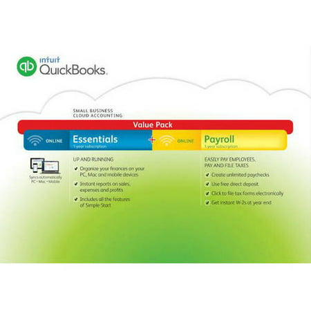 Intuit QuickBooks Online 2016 With Payroll (Digital Code