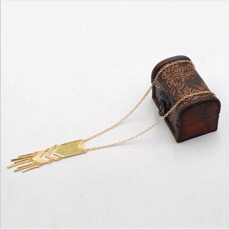Designer Triangle Necklace (Long Bohemian Necklace Tassel Pendant Necklace Matte Triangle Necklace )