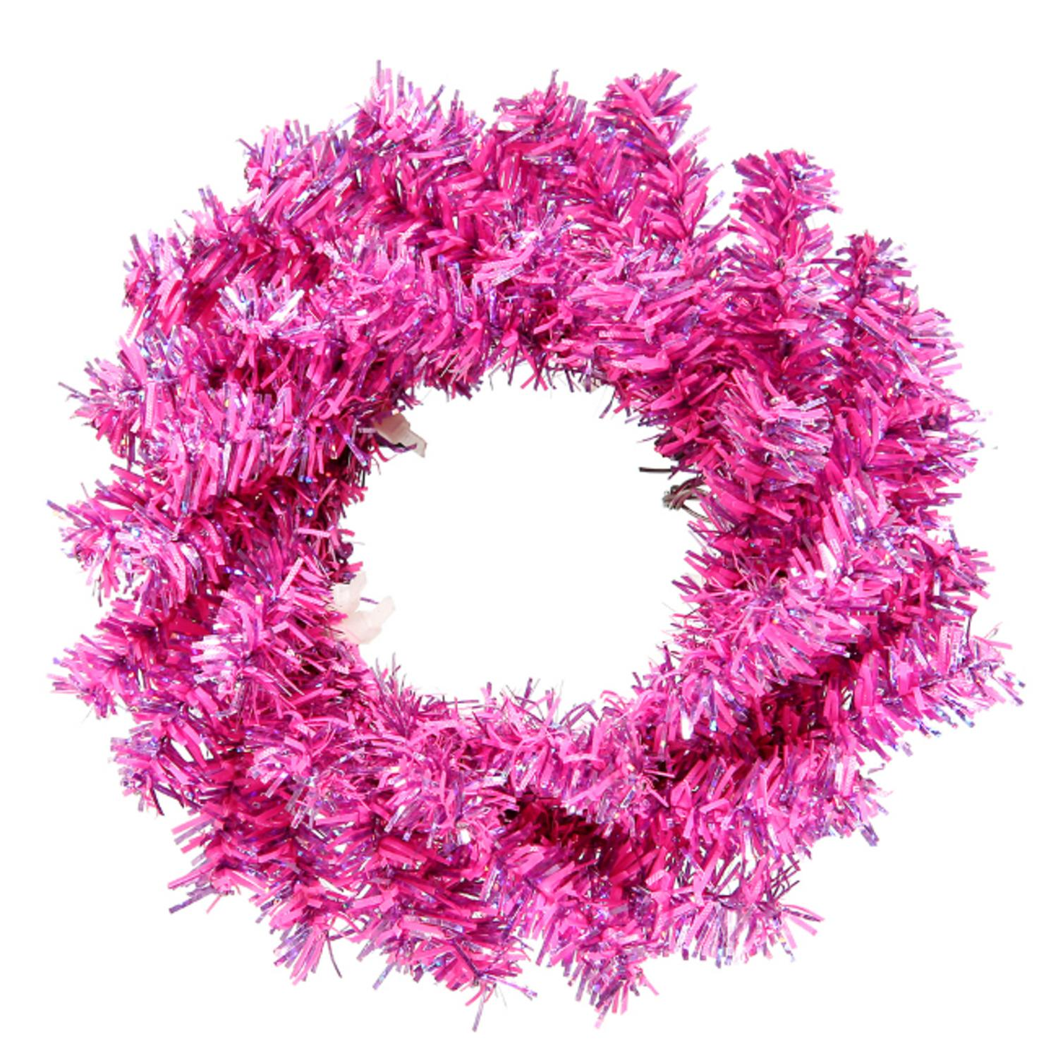 "Club Pack of 24 Sparkling Fuchsia Artificial Christmas Wreaths 6"" - Unlit"