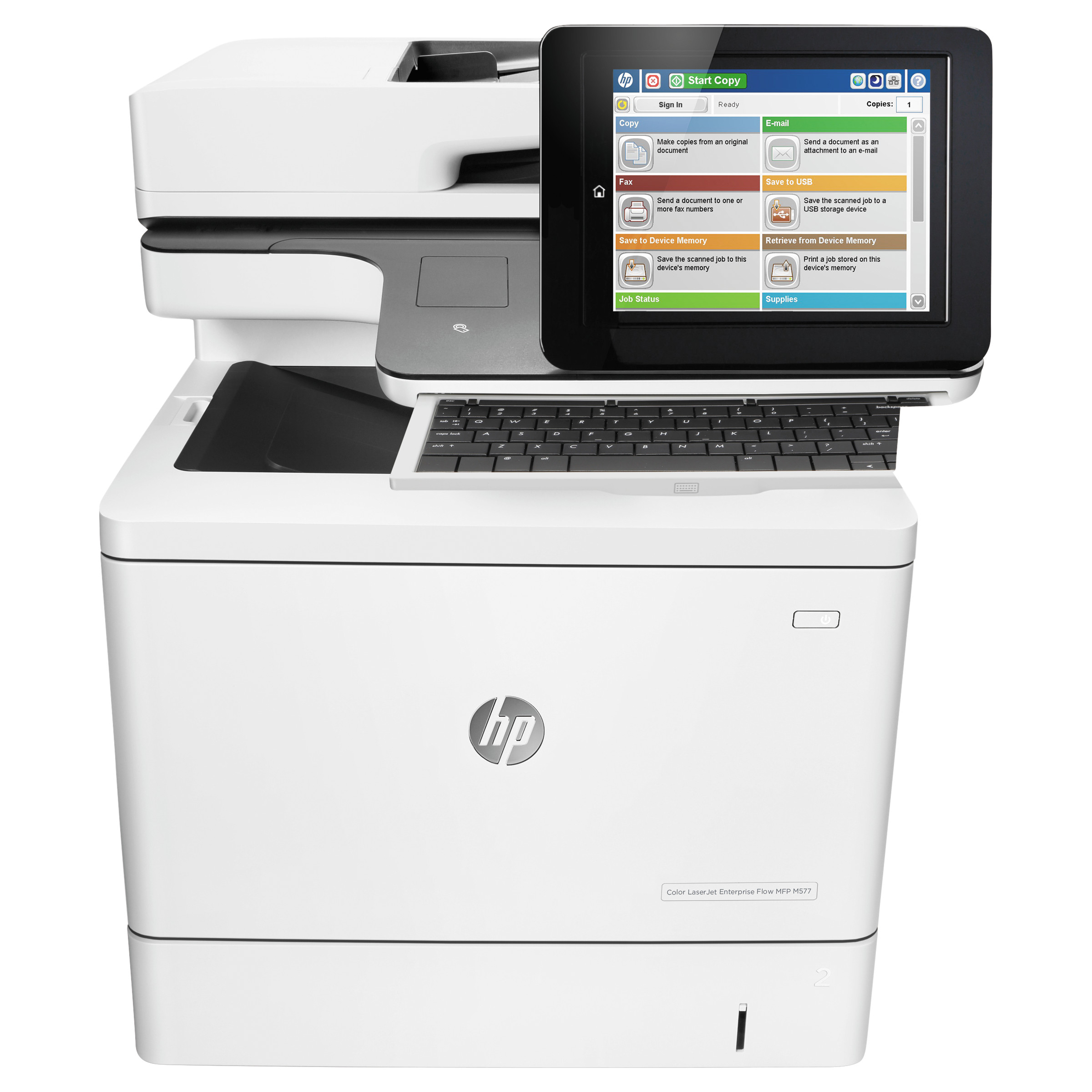 HP Color LaserJet Enterprise Flow MFP M577z Wireless Printer, Copy Fax Print Scan by HP