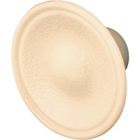 Bi-Fold Door Knobs, 1-13/16 in., Outside Diameter, Plastic Construction, Ivory, Includes Fasteners, Pack of 10