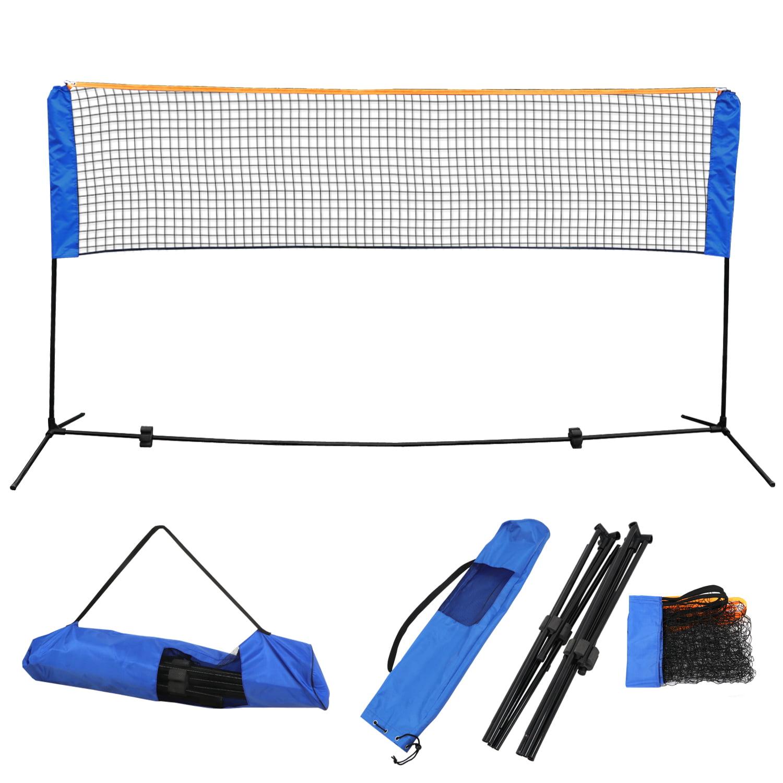 Zeny 10 X5 Portable Adjustable Badminton Net Volleyball Tennis Training Net Set W Poles Stand Carrying Bag Height Outdoor Beach Games Walmart Com Walmart Com