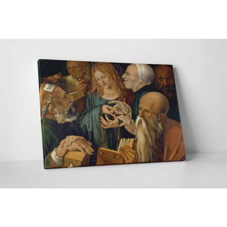 Pingo World Classic Masters Durer Albrecht 'Young Jesus Among The Scribes' Gallery Wrapped Canvas Wall Art 30 x 20