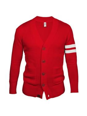Retro Cardigan Sweater - Medium / Red