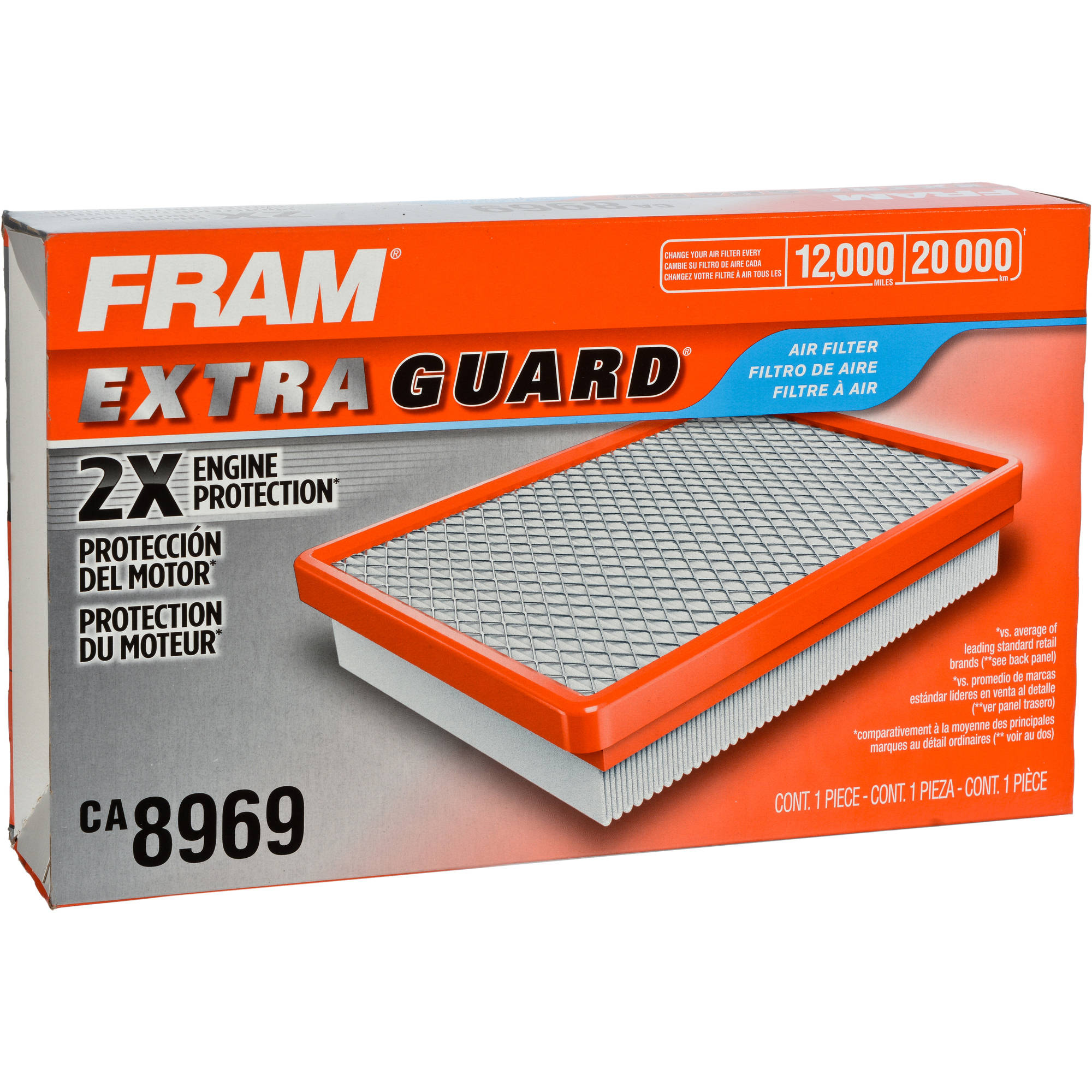 FRAM Extra Guard Air Filter, CA8969