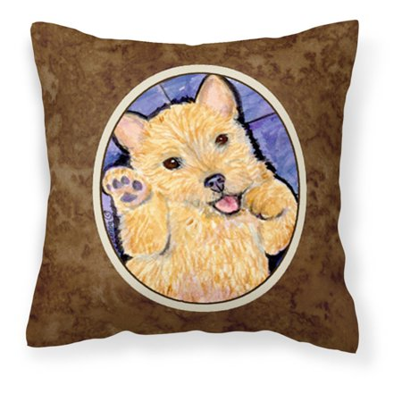 carolines treasures norwich terrier puppy on purple decorative outdoor pillow