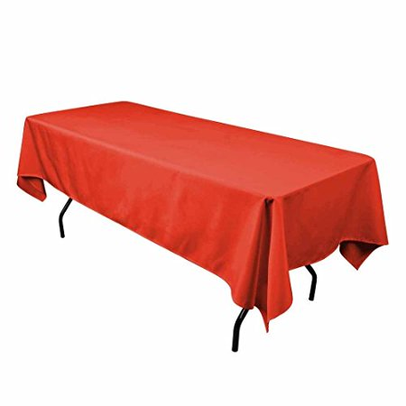 Gee Di Moda Tablecloth Rectangular 90 x 132 inch Polyester, Red, Thanksgiving, Wedding, Party](Thanksgiving Paper Tablecloths)