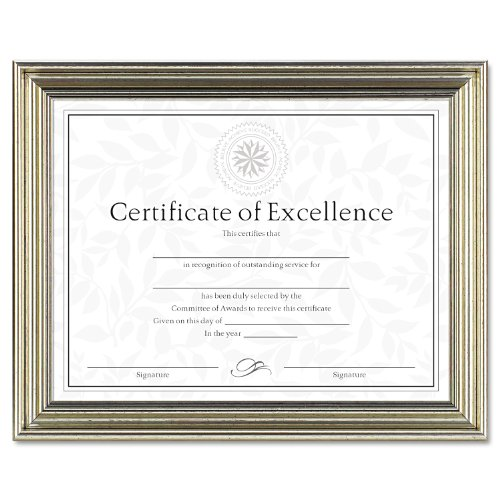 "Dax Antique-colored Certificate Frame - 11"" X 8.50"" Frame Insert - Desktop, Wall Mountable - Horizontal, Vertical - Antique Bronze (n1818n3t)"