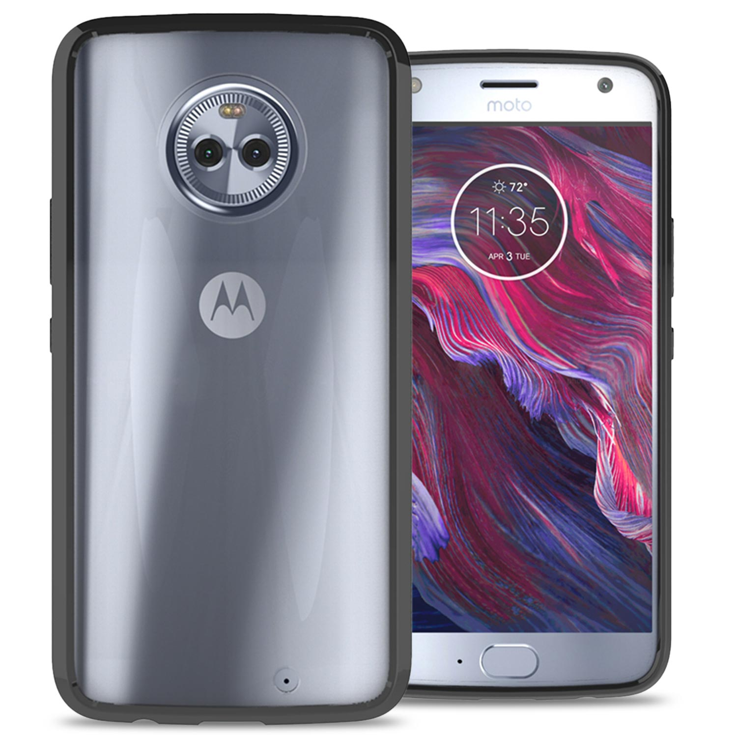 low priced a7abd 127fc CoverON Motorola Moto X4 (Moto X 4th Gen 2017) Case, ClearGuard Series  Clear Hard Phone Cover
