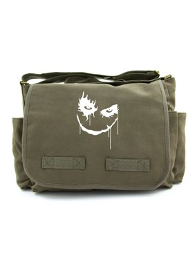 c5abe19944ba Product Image The Joker Face Army Heavyweight Canvas Messenger Shoulder Bag