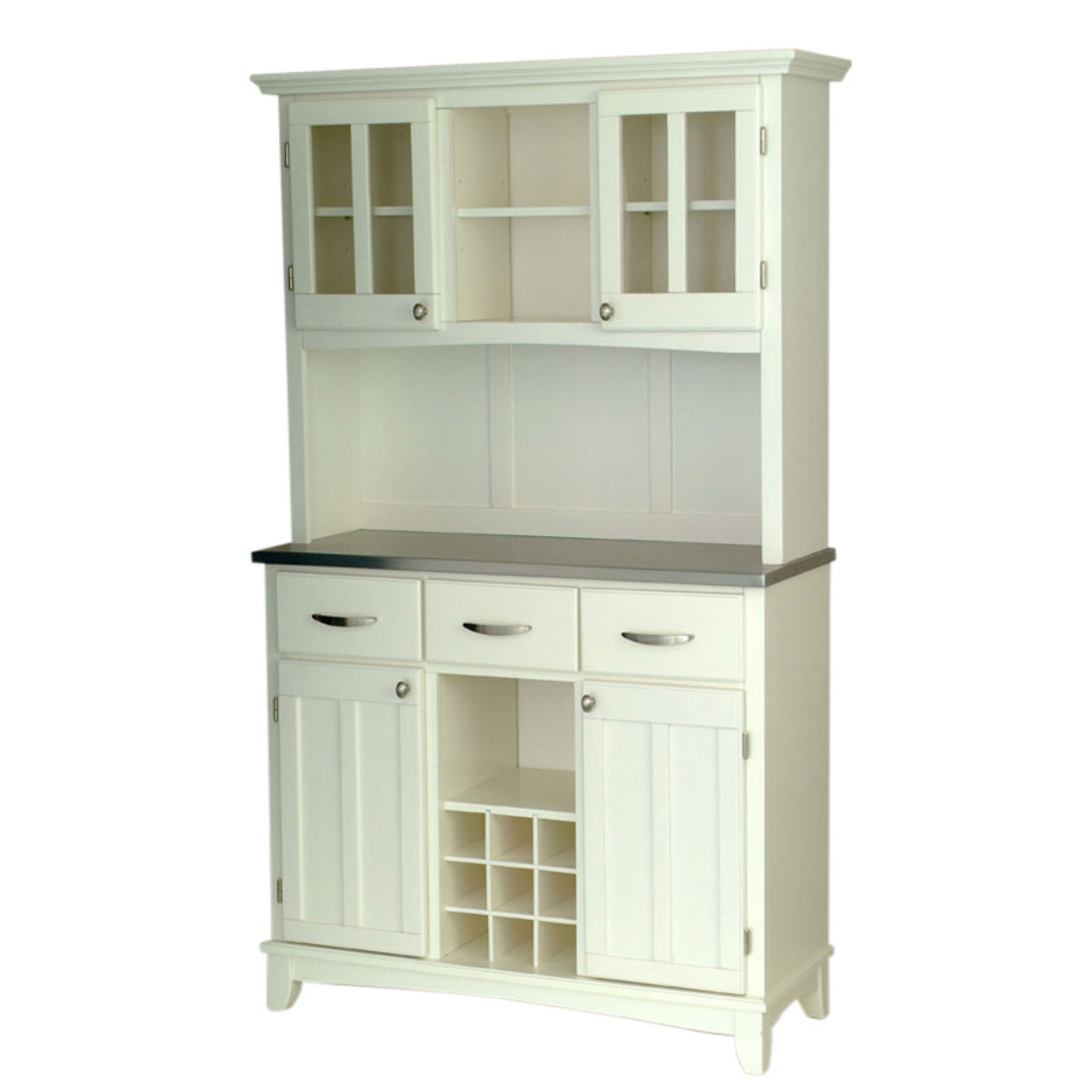 Home Styles Buffet of Buffets with Wood Top and Hutch by HomeStyles