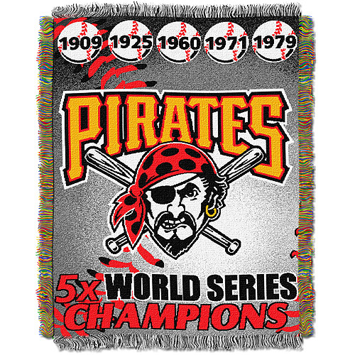 "MLB 48"" x 60"" Commemorative Series Tapestry Throw, Pirates"